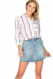 IKKS | Gestreepte blouse Aurore | wit  | Afbeelding 2