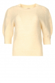 JC Sophie |  Knitted sweater with puff sleeves Jillian | natural  | Picture 1