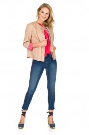 IKKS | 100% zijden top Britta | roze  | Afbeelding 3