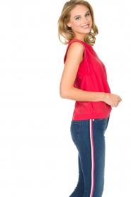 IKKS | 100% zijden top Britta | roze  | Afbeelding 5