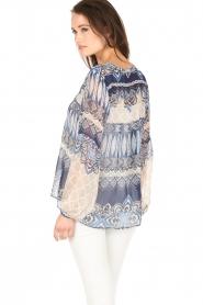 Hale Bob | Zijden blouse Melanie | blauw  | Afbeelding 5