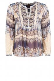 Hale Bob | Zijden blouse Melanie | blauw  | Afbeelding 1