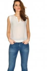 IKKS |  100% silk top Britta | white  | Picture 2