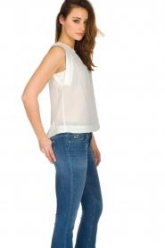 IKKS |  100% silk top Britta | white  | Picture 4