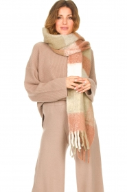 JC Sophie |  Knitted scarf Juanita | brown  | Picture 2