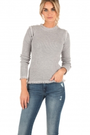 Sweater Fine Fringe Crew | grey
