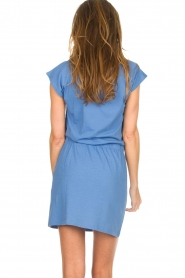 Blaumax |  Cotton dress Shelly | blue  | Picture 4
