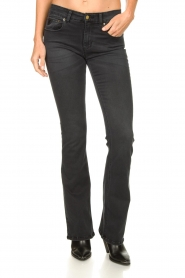 Lois Jeans |  L32 Flared stretch jeans Melrose | black  | Picture 4