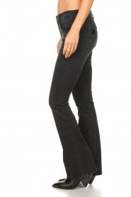 Lois Jeans |  L32 Flared stretch jeans Melrose | black  | Picture 5