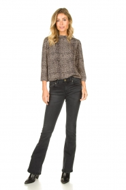 Lois Jeans |  L32 Flared stretch jeans Melrose | black  | Picture 3
