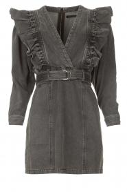 Magali Pascal |  Denim ruffle dress Alexia | off-black  | Picture 1