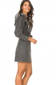 Magali Pascal |  Denim ruffle dress Alexia | off-black  | Picture 6