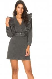 Magali Pascal |  Denim ruffle dress Alexia | off-black  | Picture 4