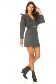 Magali Pascal |  Denim ruffle dress Alexia | off-black  | Picture 3