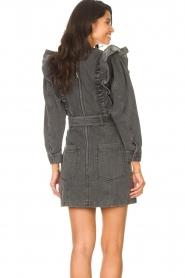 Magali Pascal |  Denim ruffle dress Alexia | off-black  | Picture 7