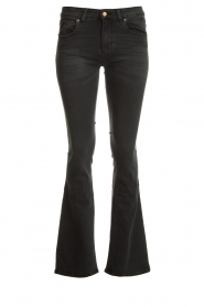 Lois Jeans |  L34 Flared stretch jeans Melrose | black  | Picture 1