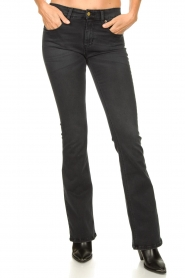 Lois Jeans |  L34 Flared stretch jeans Melrose | black  | Picture 4