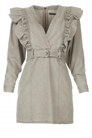 Magali Pascal |  Denim ruffle dress Alexia | grey  | Picture 1