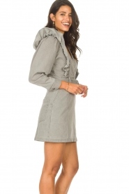 Magali Pascal |  Denim ruffle dress Alexia | grey  | Picture 6