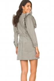 Magali Pascal |  Denim ruffle dress Alexia | grey  | Picture 7