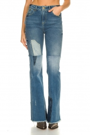 Lois Jeans |  Destroyed flared jeans Ramona | blue  | Picture 5