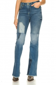 Lois Jeans |  Destroyed flared jeans Ramona | blue  | Picture 4