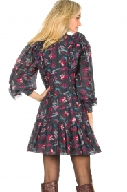Magali Pascal |  Flowerprint dress Laurena | black  | Picture 6