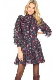 Magali Pascal |  Flowerprint dress Laurena | black  | Picture 2