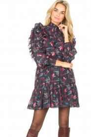 Magali Pascal |  Flowerprint dress Laurena | black  | Picture 4