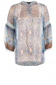 Hale Bob | Zijden blouse Cindy | blauw  | Afbeelding 1