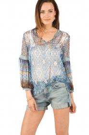 Hale Bob | Zijden blouse Cindy | blauw  | Afbeelding 2