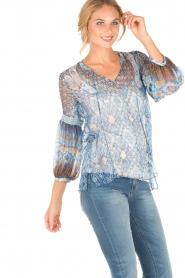 Hale Bob | Zijden blouse Cindy | blauw  | Afbeelding 3