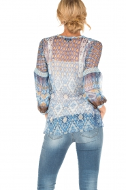 Hale Bob | Zijden blouse Cindy | blauw  | Afbeelding 4