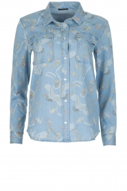IKKS |  Denim blouse Clarice | blue  | Picture 1