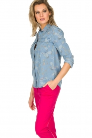 IKKS |  Denim blouse Clarice | blue  | Picture 4