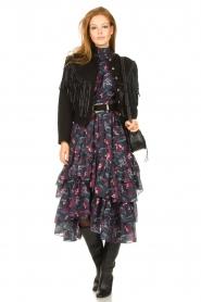 Magali Pascal |  Midi ruffle dress Paula | black  | Picture 3
