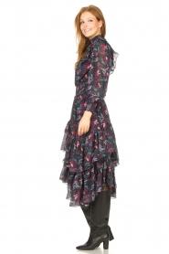 Magali Pascal |  Midi ruffle dress Paula | black  | Picture 6