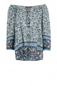 Hale Bob | Off-shoulder blouse Logan | blauw  | Afbeelding 1