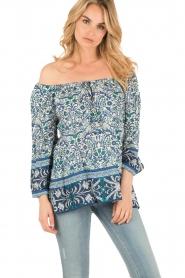 Hale Bob | Off-shoulder blouse Logan | blauw  | Afbeelding 2