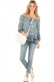 Hale Bob | Off-shoulder blouse Logan | blauw  | Afbeelding 3