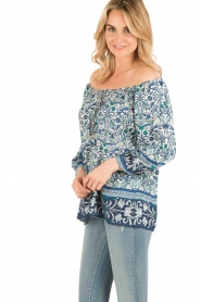 Hale Bob | Off-shoulder blouse Logan | blauw  | Afbeelding 4