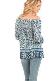 Hale Bob | Off-shoulder blouse Logan | blauw  | Afbeelding 5