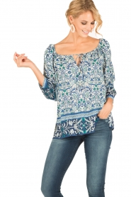 Hale Bob |  Off-shoulder blouse Logan | blue  | Picture 2