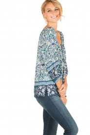 Hale Bob |  Off-shoulder blouse Logan | blue  | Picture 5