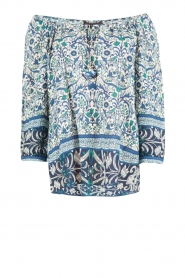 Hale Bob |  Off-shoulder blouse Logan | blue  | Picture 1