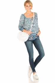 Hale Bob |  Off-shoulder blouse Logan | blue  | Picture 3