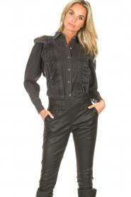Magali Pascal    Denim ruffle blouse Alexia   grey    Picture 6