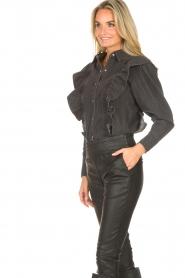 Magali Pascal    Denim ruffle blouse Alexia   grey    Picture 7