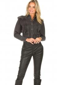 Magali Pascal    Denim ruffle blouse Alexia   grey    Picture 2