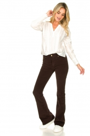 Lois Jeans |  L32 Jeans Raval Baby Rib | brown  | Picture 3